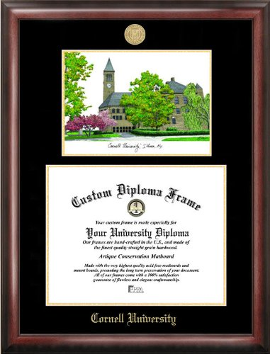 Campus Images ''Cornell University Embossed Diploma'' Frame with Lithograph Print, 11'' x 14'', Gold by Campus Images