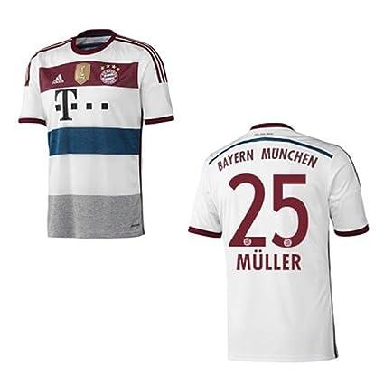 adidas FC Bayern München Herren Sport Freizeit Fan T-Shirt Weiss Blau NEU