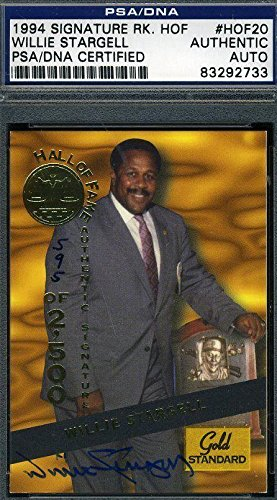 (Willie Stargell Autograph Certified 1994 Signature Authentic Signed - PSA/DNA Certified - Baseball Slabbed Autographed Cards)