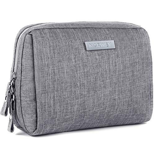 Small Makeup Bag for Purse Travel Makeup Pouch Mini Cosmetic Bag for Women Girls (Small, Grey)