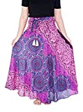 Lannaclothesdesign Women's Long Maxi Ankle Lenght Skirt Boho Skirts One Size Purple