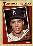 1987 Topps Tiffany #315 Maury Wills 1962 turn back the clock LOS ANGELES DODGERS parallel