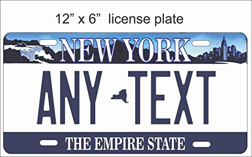 (ATD New York State Replica Novelty License Plate or Mini License Plate For Bicycles, Bikes, Wheelchairs, Golf Carts personalized with your design custom vanity Decorative plate)