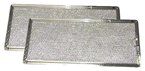 Grease Filter for GE Microwave Range Hood WB06X10596, 2 Filters (Range Hood Grease Filter)