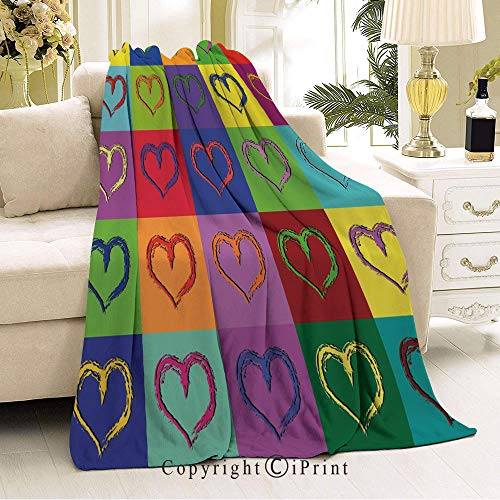 - Boy and Girl Blanket,Living Room/Bedroom Warm Blanket,36