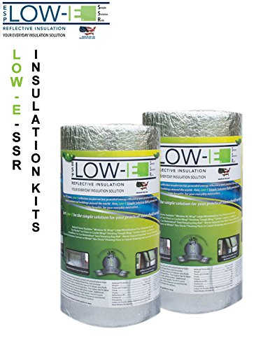 2 Pack Wholesale Lot  Esp Low E  Ssr Reflective Foam Core Insulation Kit  2 Rolls  Size 16 X50  Includes 50 Foil Tape Per Roll  Knife   Squeegee  Multipurpose Home Insulation For Your Building Project Or Just Every Day Household Needs