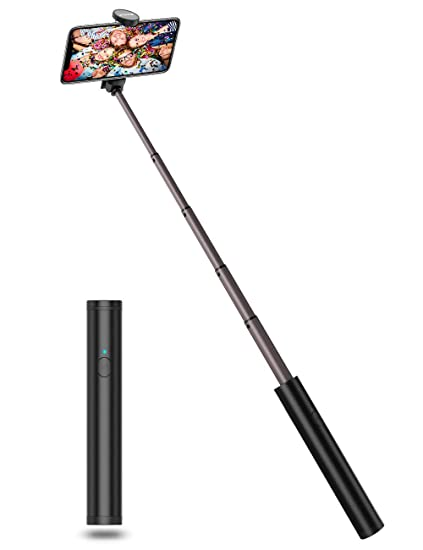Amazon.com: JTWEB Selfie Stick Bluetooth All in One Selfie Sticks Upgrade Aluminum Design for iPhone Xs/XS max/XR/X/8/8P/7/7P/6s/6/5, Android Galaxy S9/8/7/6/Note, Huawei, Nubia, More (Selfie Stick Compact): Cell Phones & Accessories