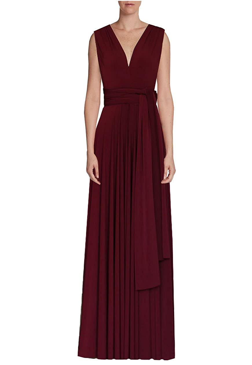 deaa541b7f2 E K Infinity dress Long bridesmaid gown Convertible wedding multiway skirt  Plus size wrap clothing at Amazon Women s Clothing store