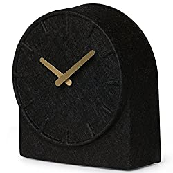 table clock felt two black with brass hands