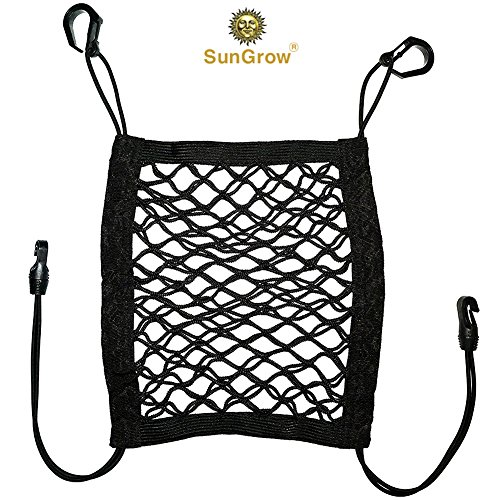 "Stretchable Pet Barrier & Organizer --- 10""x12"" Storage Net & Seat Restrain for Dogs & Cats - No Assembly required - Setup in Vehicle under 3 minutes - Works in Sedans, SUVs, Vans & Pickup (Bottled Water Harness)"