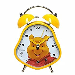 YOURNELO Cute Cartoon Disney Boy's Girl's Numeral Desktop Alarm Clock (Winnie the Pooh)
