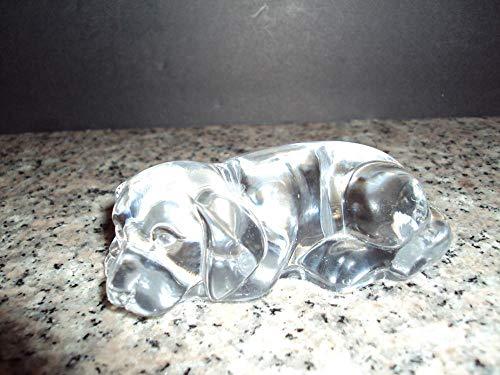 Princess House Glass Pets Puppy Dog Figurine 24 Lead Crystal Germany Made - Lead Figurine Magazine