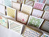 3'' x 3'' Mini Note Cards with Envelopes/Blank Note Cards/Thank you cards/Mini Thank You Enclosures/Assorted RANDOM Patterns/Set of 20