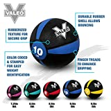 Valeo 4 lb Medicine Ball With Sturdy Rubber