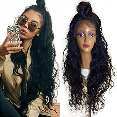 Glueless Natural Water Wave Lace Front Wigs with Baby Hair Fashion Long Hair Wave Synthetic Heat Resistant Fiber for Women 24 inch