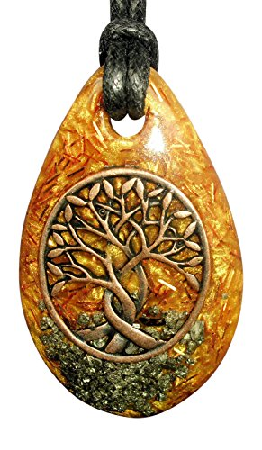 Golden Tree of Life Orgone Pendant - achieving hopes and aspirations