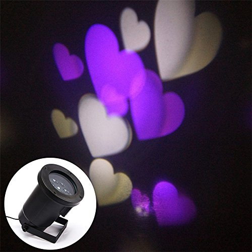 Ablevel Rotating RGB Projection Indoor Outdoor Led Lights, LOVE Pattern Lens Lamp for Birthday,Holiday,Party,Home Decor(Purple)