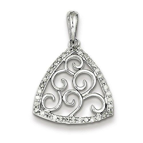 Argent Sterling diamant pendentif pendentif-JewelryWeb
