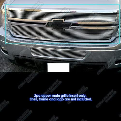 APS Compatible with 2011-2014 Chevy Silverado 2500HD 3500HD Billet Grille Grill Insert S18-A13866C