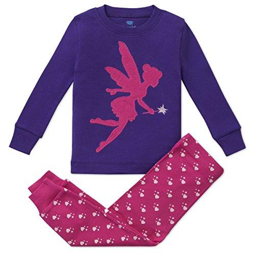 (Bluenido Girls Pajamas Fairy 2 Piece Pajama 100% Super Soft Cotton 7Y)