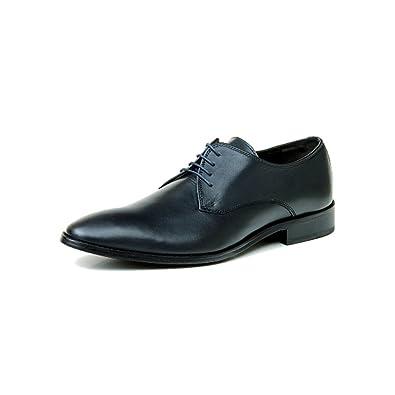 sports shoes 2ac97 83850 Hamlet Hanno Dunkelblau Crust Dark Blue Plain Derby ...