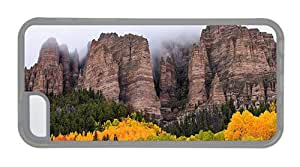 Hipster iPhone 5C girly covers Canyons Autumn FOg TPU Transparent for Apple iPhone 5C