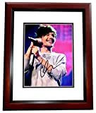 Louis Tomlinson Signed - Autographed 1D One Direction Concert 8x10 inch Photo MAHOGANY CUSTOM FRAME - Guaranteed to pass PSA or JSA