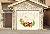 Christmas Decor Banner SINGLE CAR GARAGE DOOR MURALS Covers Outdoor Home Decor Door Cover Billboard Full Color 3D Effect Print Door Decor Decorations of House Garage Holiday Size 83 x 89 inches DAV62