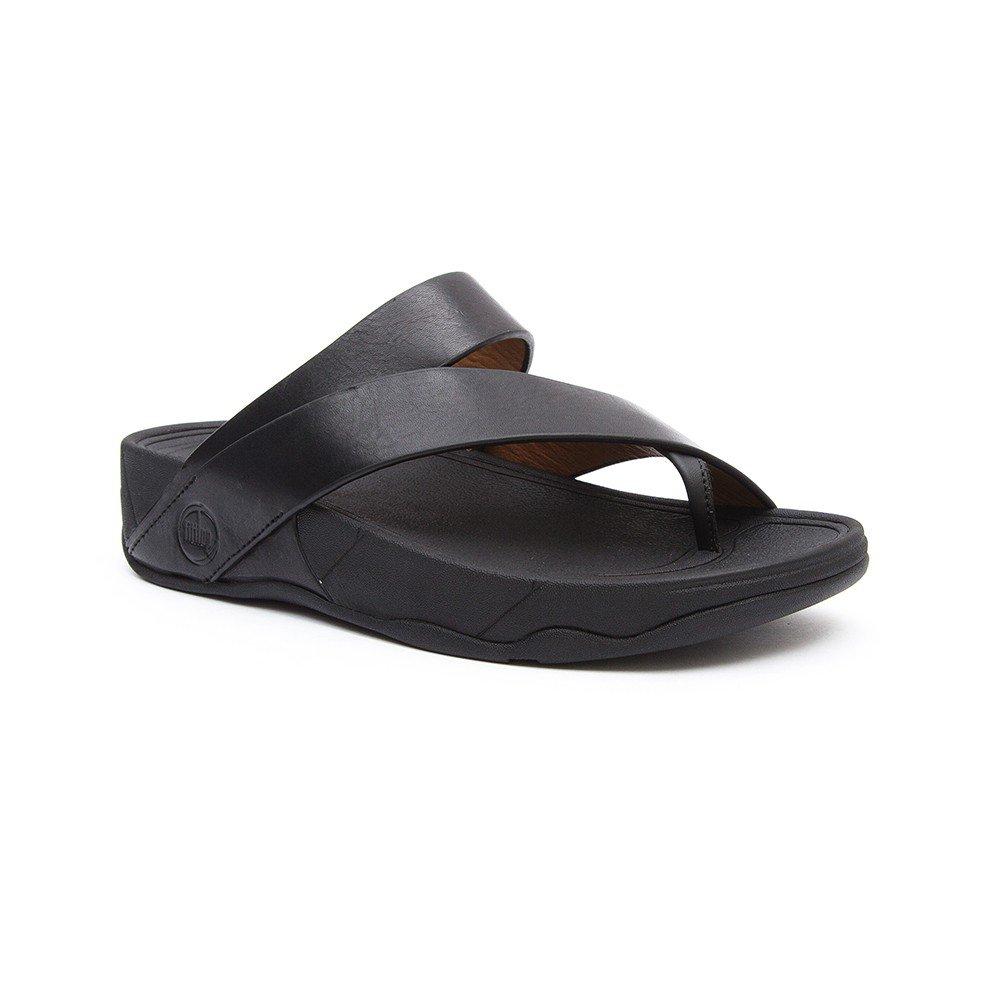 3185f89f5b268f Amazon.com  FitFlop Sling Men s Criss Cross Strap Slide Sandals Black Size  13  Clothing