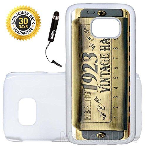 clásico Arpa harmonica-s7–3649, funda de plástico, blanco (Plastic Snap On-White Case)