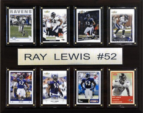 NFL Ray Lewis Baltimore Ravens 8 Card Plaque