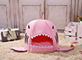 COCOPET Shark Bed for Small Cat Dog Cave Cozy Bed Removable Cushion,waterproof Bottom Pink (Medium, Pink) Review