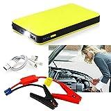 12V 20000mAh Multi-Function Car Jump Starter Power Booster Battery Charger FSS, Yellow