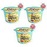 [Ottogi] Real Cheese Cup Ramen Noodle Soup 3 sets / Korean food / Korean ramen / Korean Noodle Soup (overseas direct shipment)