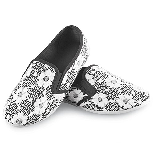 Floral Lace Slip on Canvas Sneaker
