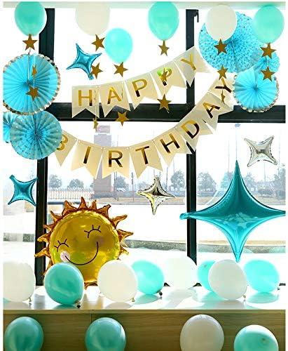 ブルー誕生日風船セット バースデー パーティー HAPPY BIRTHDAY豪華バルーンデコレーションキット