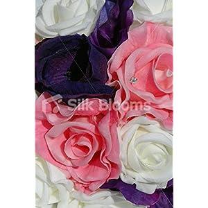 Pink, Purple & Ivory Rose Lisianthus Anemone Bridesmaid Bouquet 2