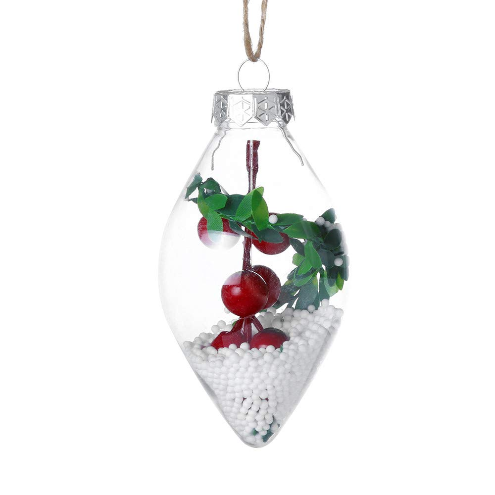 DMZing DIY Christmas Tree Pendants Hallmark Ball Hanging Party Home Decor Ornament Gift Decoration (C)