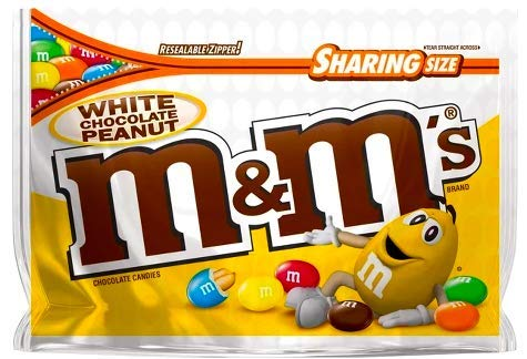 NEW M&M's White Chocolate Peanut Candies Limited edition- 9.6oz (1) -