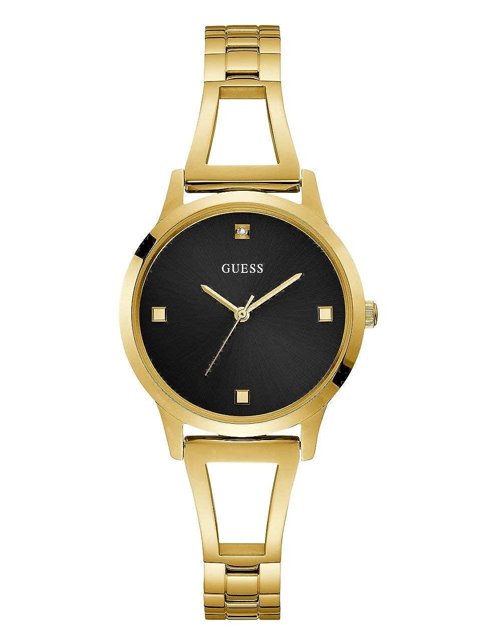 Amazon.com: Guess - Reloj de cuarzo para mujer, acero ...