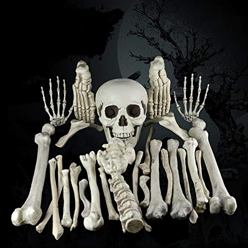 THEE 28pcs Scary Human Bones Party Skull Skeleton Halloween Decoration