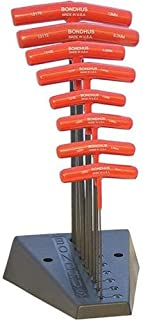 product image for Bondhus 13189 Set of 8 Balldriver and Hex T-handles with Stand, sizes 2-10mm