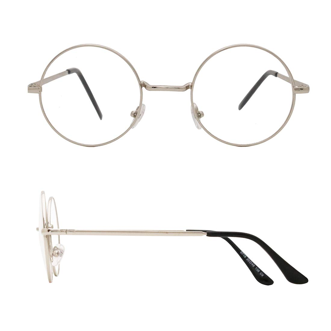 SIPU Retro Round Metal Frame Clear Lens Glasses Non-Prescription Eyewear Women Men