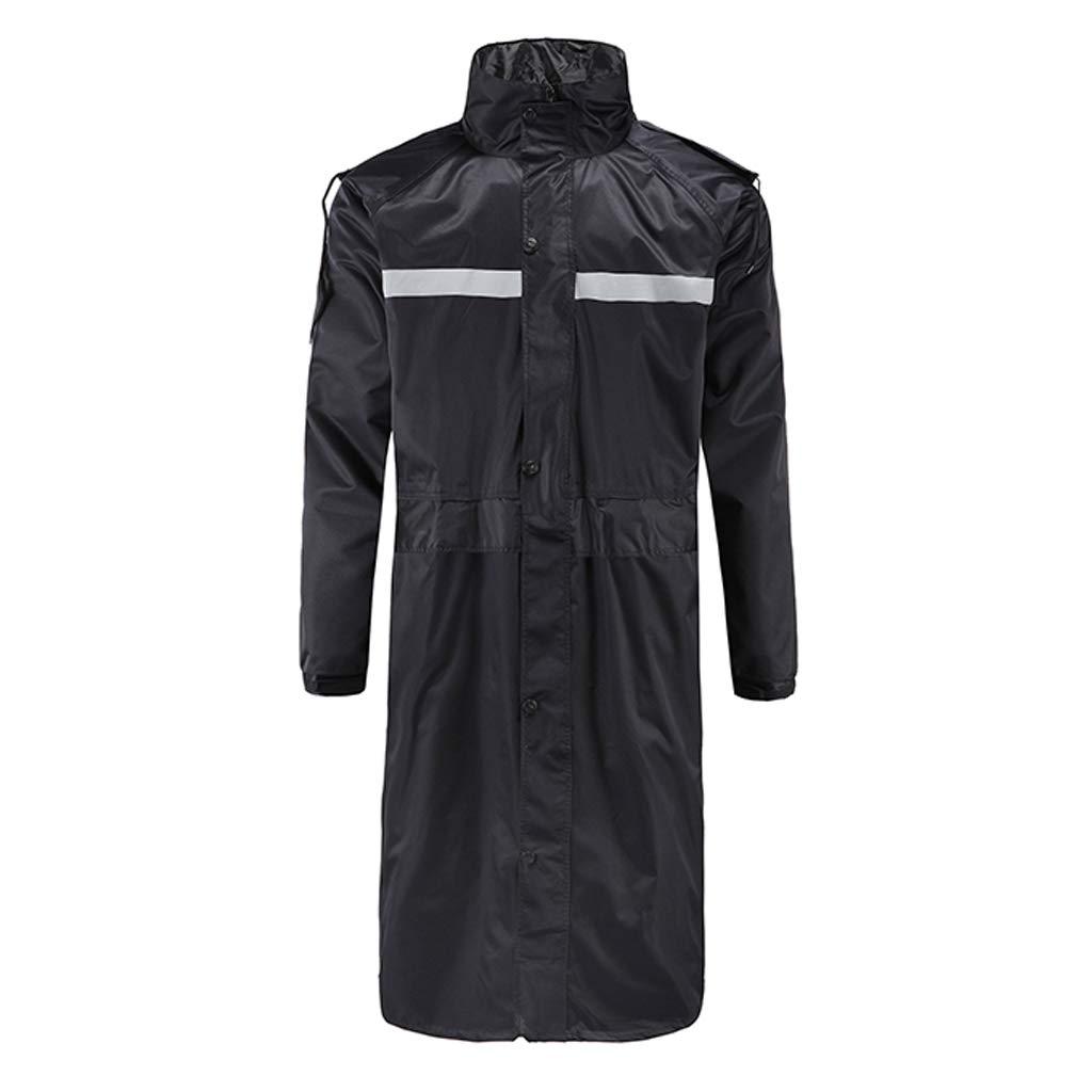 noir X-grand ZYMNL-YY Security Patrol Rainwear mode pour Hommes et Femmes Adultes Costume de Pluie extérieur Siamois Long imperméable
