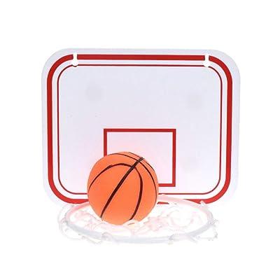Zeonetak Children Basketball Hoop Plastic Toy Rebounds Indoor Adjustable Hanging Basketball Netball Hoop Basketball Box Mini Basketball Board: Sports & Outdoors