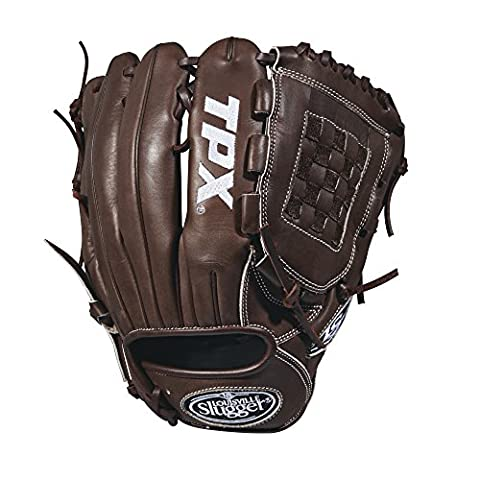 Louisville Slugger 2018 Tpx Pitcher's Baseball Glove - Right Hand Throw Dark Brown/White, 11.75