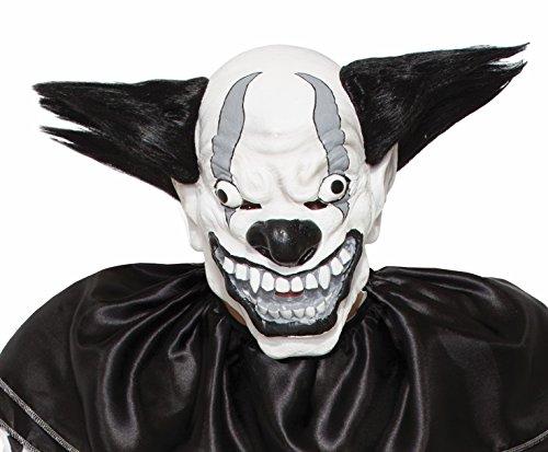 Pennywise The Clown Costume Uk (Forum Novelties 77085 Bezerk Black and White Evil Clown Mask, Black/White)