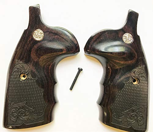 S&W K/L/X Frame Round Butt Walnut Checkered Smith & Wesson Grips (Smith & Wesson Model 67 For Sale)