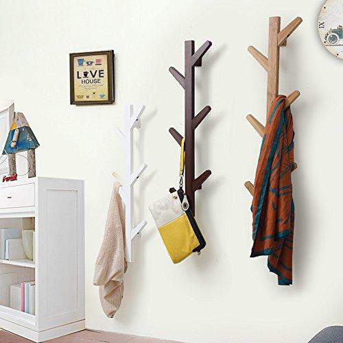 Amazon EGoal 40 Hooks Bamboo Tree Wall Coat Rack Wall Mounted Cool Coat Rack For Wall