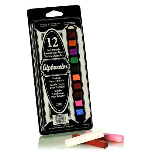 Quartet Alphacolor Soft Pastels, Multi-Cultural Portrait Pastels for Skin Tones, 12 Pastels per Set (102006)